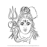 How to Draw Lord Shiva Face