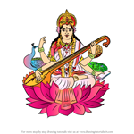 How to Draw Saraswati