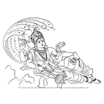 How to Draw Lord Vishnu