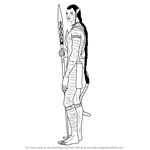 How to Draw Jake Sully from Avatar