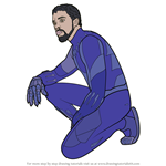 How to Draw Black Panther from Avengers Endgame