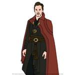 How to Draw Doctor Strange from Avengers Endgame