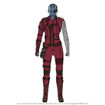 How to Draw Nebula from Avengers Endgame