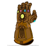 How to Draw The Infinity Gauntlet from Avengers - Infinity War