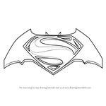 How to Draw Batman v Superman Logo