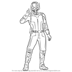 How to Draw Ant Man from Captain America Civil War