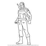 How to Draw Winter Soldier from Captain America Civil War