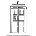 How to Draw Tardis from Doctor Who