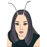 How to Draw Mantis from Guardians of the Galaxy