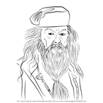 How to Draw Albus Dumbledore from Harry Potter
