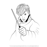 How to Draw Newt Scamander from Harry Potter
