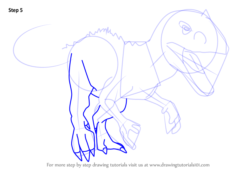Step by Step How to Draw Indominus rex from Jurassic World ...