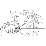 How to Draw Finn with Lightsaber from Star Wars - The Force Awakens