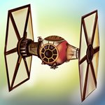 How to Draw TIE Fighter from Star Wars - The Force Awakens