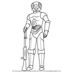 How to Draw 4-LOM from Star Wars
