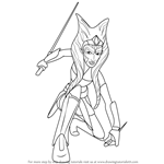 How to Draw Ahsoka Tano from Star Wars