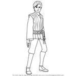How to Draw Anakin Solo from Star Wars