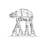 How to Draw AT-AT from Star Wars