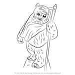 How to Draw Ewok from Star Wars