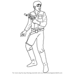 How to Draw Han Solo from Star Wars