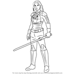 How to Draw Jaina Solo from Star Wars