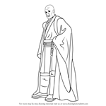 How to Draw Mace Windu from Star Wars