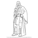 How to Draw Qui-Gon Jinn from Star Wars