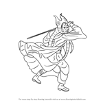 How to Draw Shaak Ti from Star Wars