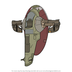 How to Draw Slave I from Star Wars