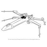 How to Draw X-Wing fighter from Star Wars