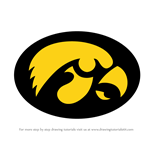 How to Draw Iowa Hawkeyes Logo