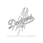How to Draw Los Angeles Dodgers Logo