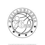 How to Draw Philadelphia 76ers Logo
