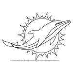 How to Draw Miami Dolphins Logo