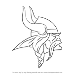 How to Draw Minnesota Vikings Logo