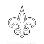 How to Draw New Orleans Saints Logo