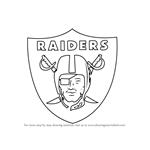 How to Draw Oakland Raiders Logo
