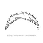 How to Draw San Diego Chargers Logo