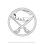 How to Draw Buffalo Sabres Logo