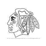 How to Draw Chicago Blackhawks Logo