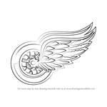 How to Draw Detroit Red Wings Logo