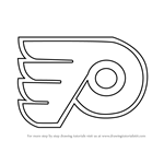 How to Draw Philadelphia Flyers Logo
