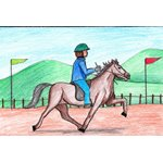 How to Draw a Jockey riding Horse Scene