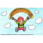 How to Draw a Parachute Man