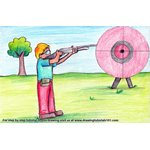 How to Draw Shooting Sports Scene