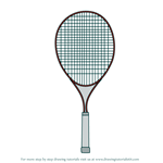 How to Draw Tennis Racket