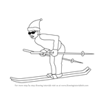 How to Draw a Snow Skier