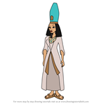 How to Draw Queen Hatshepsut from Carmen Sandiego