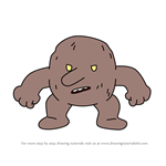 How to Draw Baby troll from Hilda