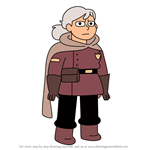 How to Draw Gerda Gustav from Hilda